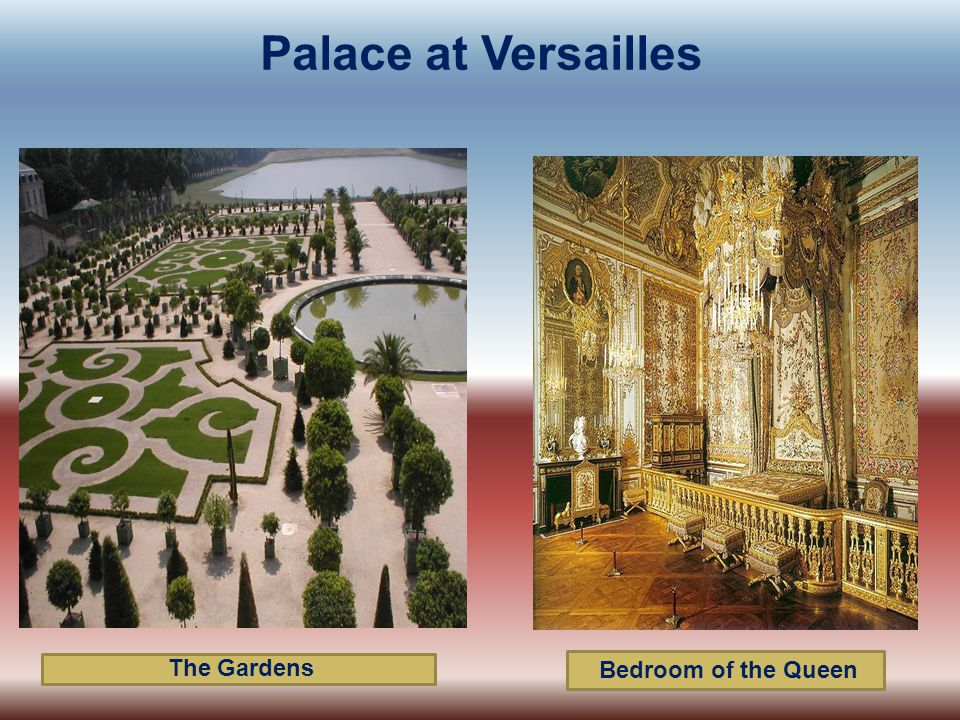 The Gardens Bedroom of the Queen Palace at Versailles