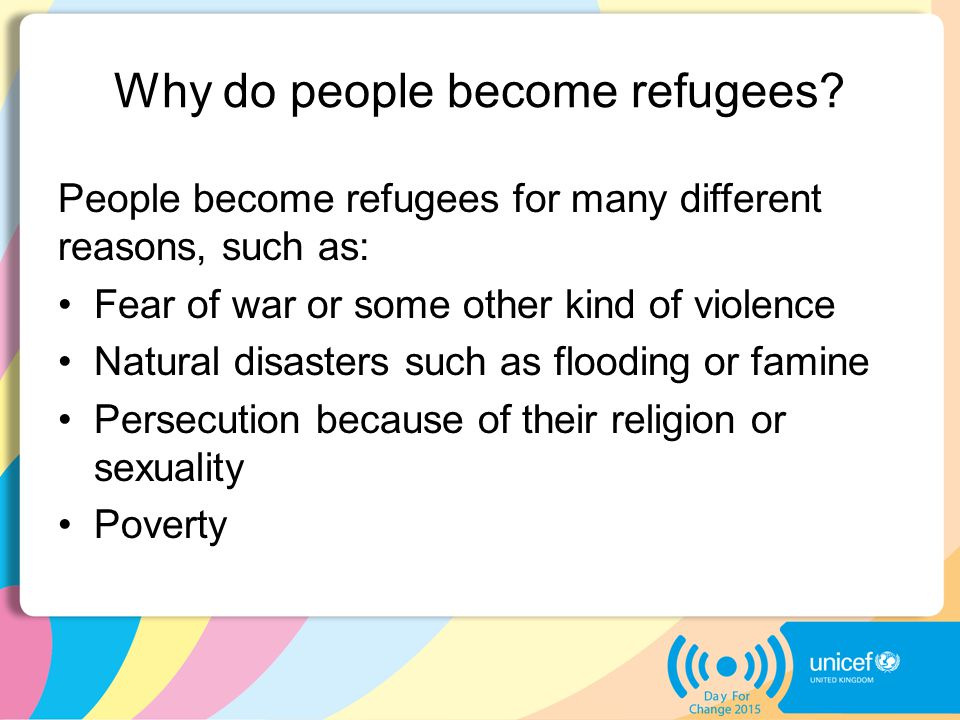 Why do people become refugees.
