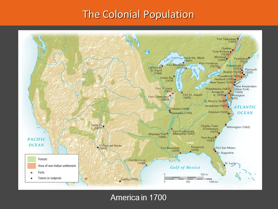 Growth and Diversity 1.1700–1750—colonial population rose from 250,000 to over two million 1.