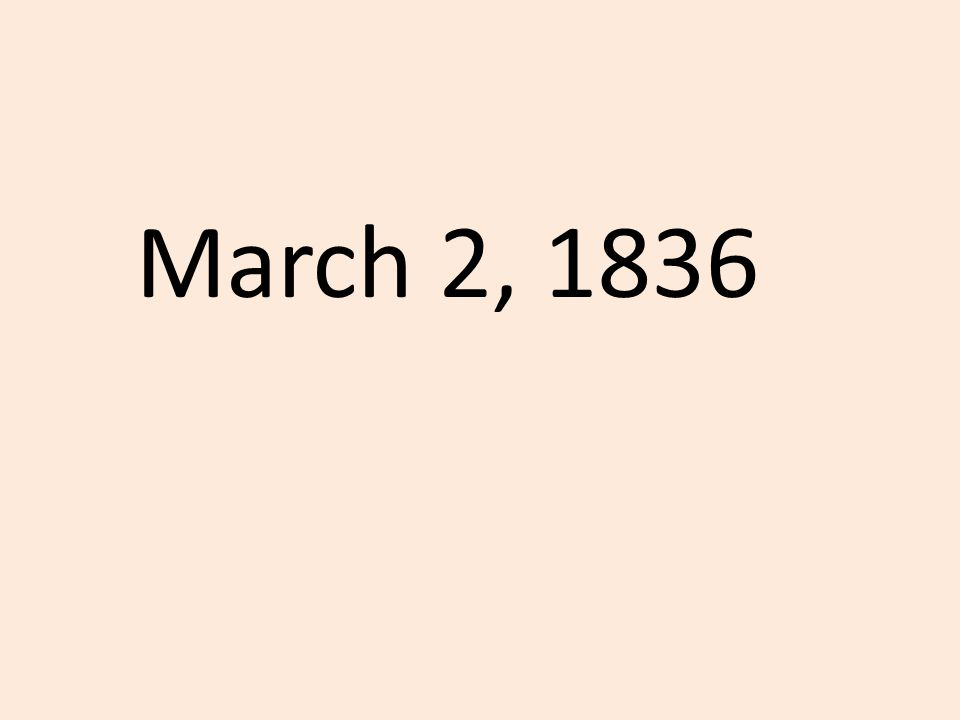 March 2, 1836