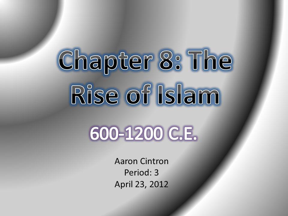 Aaron Cintron Period: 3 April 23, 2012