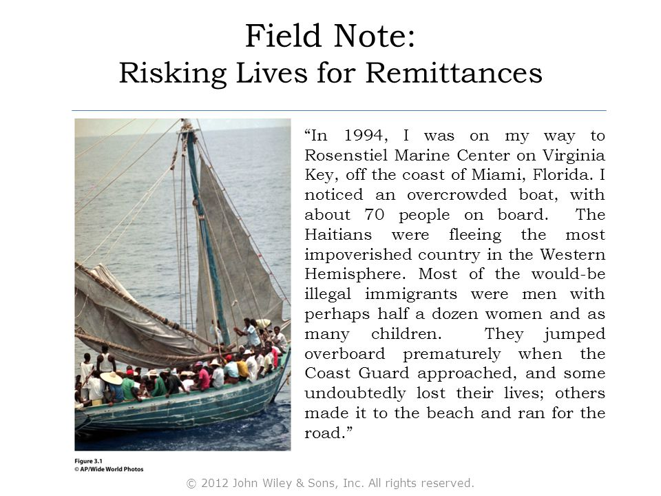 "Field Note: Risking Lives for Remittances "" ""In 1994, I was on my way to Rosenstiel Marine Center on Virginia Key, off the coast of Miami, Florida. I"