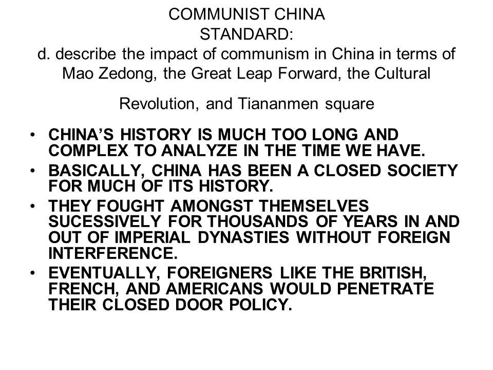 COMMUNIST CHINA STANDARD: d.