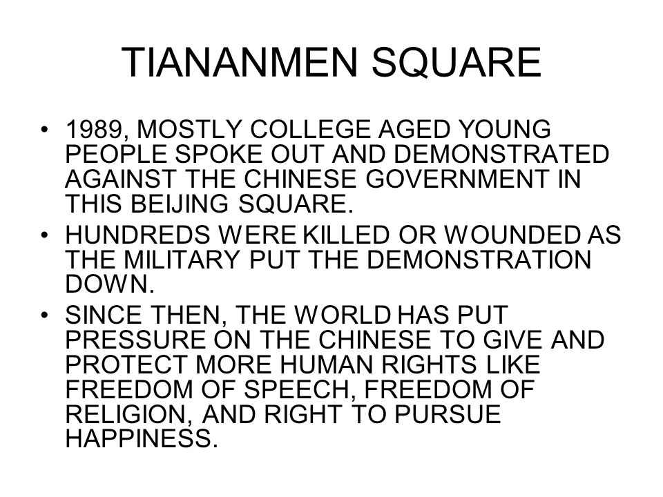 TIANANMEN SQUARE 1989, MOSTLY COLLEGE AGED YOUNG PEOPLE SPOKE OUT AND DEMONSTRATED AGAINST THE CHINESE GOVERNMENT IN THIS BEIJING SQUARE.