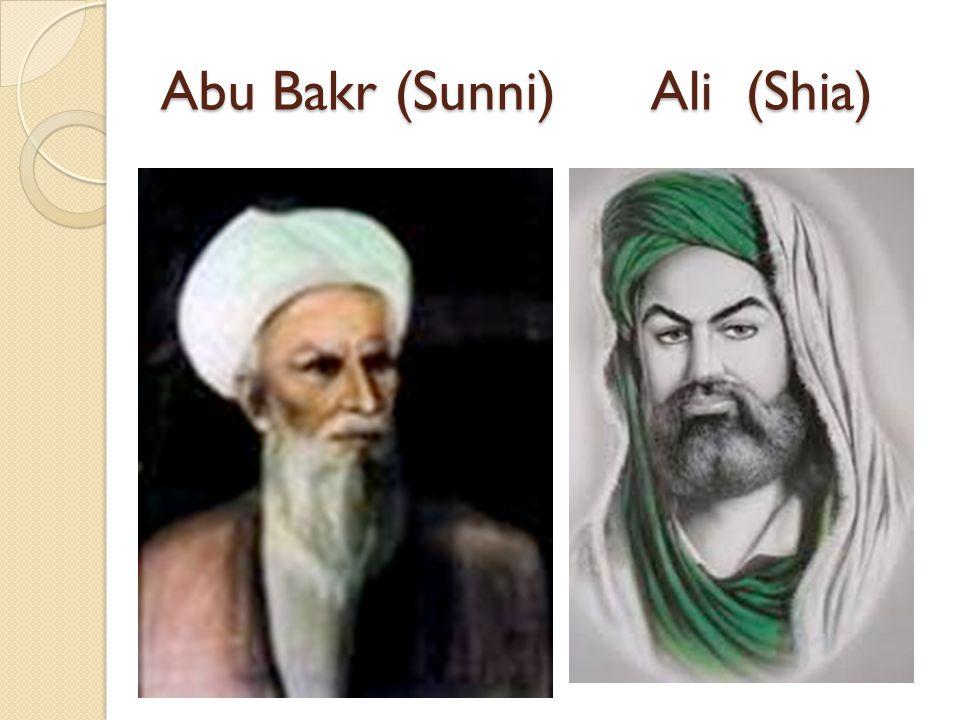 Abu Bakr (Sunni) Ali (Shia)