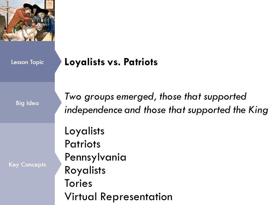 Loyalists vs.