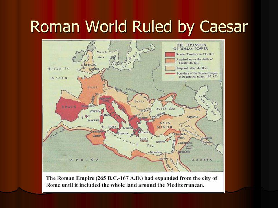 Roman World Ruled by Caesar