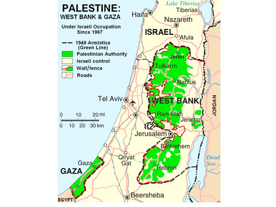 2001 – Ariel Sharon assumes power in Israel – Palestinian Authority looses control to Israeli security forces in West Bank and Gaza.