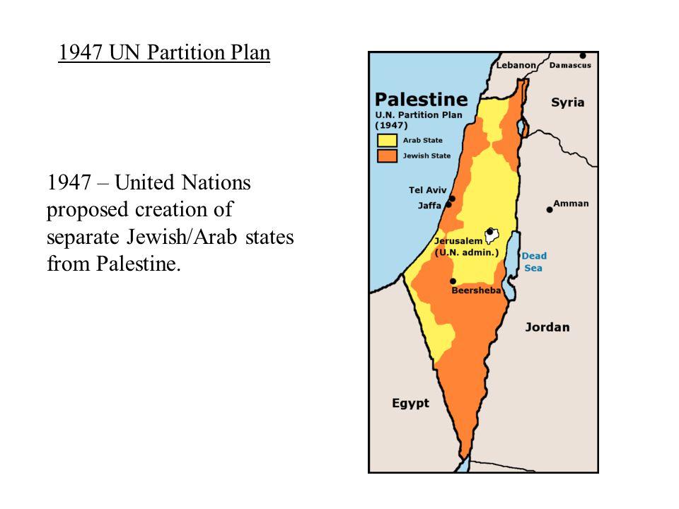 Recent Developments 2004 – Yasser Arafat dies.