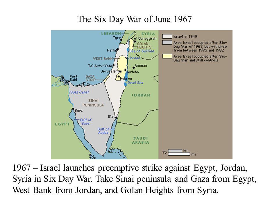 The October 1973 or Yom Kippur War 1973 – Yom Kippur war.