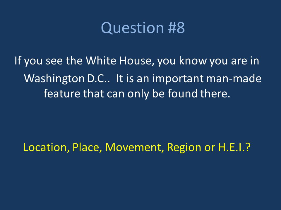 Question #9 You can help someone find Wayne County by telling them that it is in Southeast Michigan.