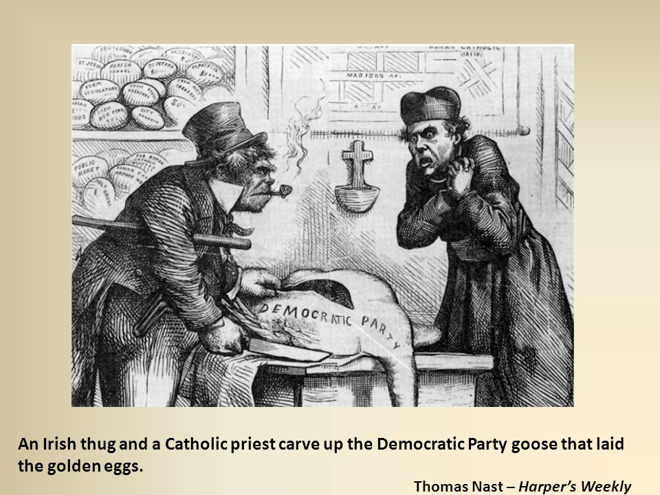 An Irish thug and a Catholic priest carve up the Democratic Party goose that laid the golden eggs.