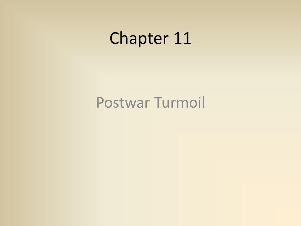 Postwar Turmoil Chapter 11