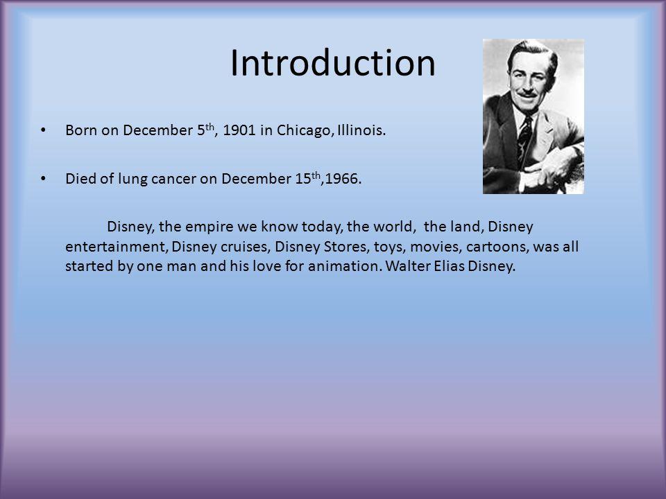 Walt Disney PowerPoint By Elizabeth Benson