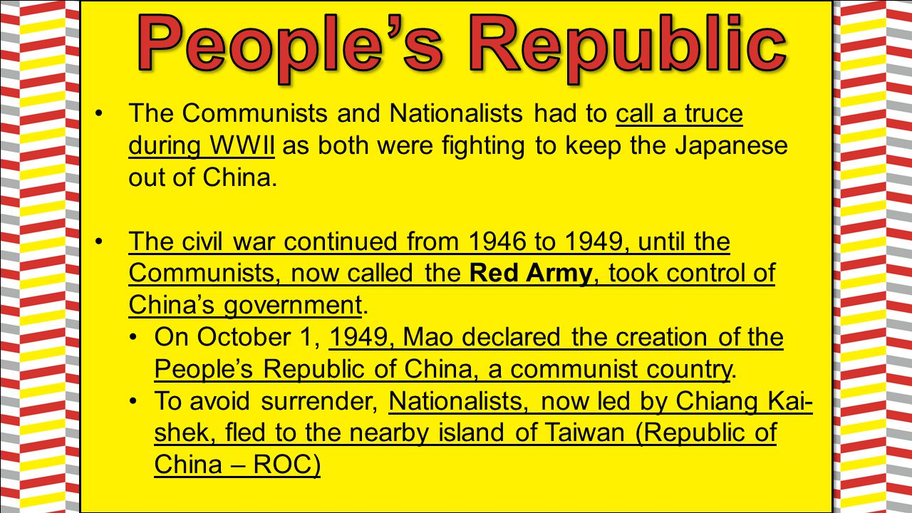 Mao was appointed head of China's government and had virtually complete control over China.