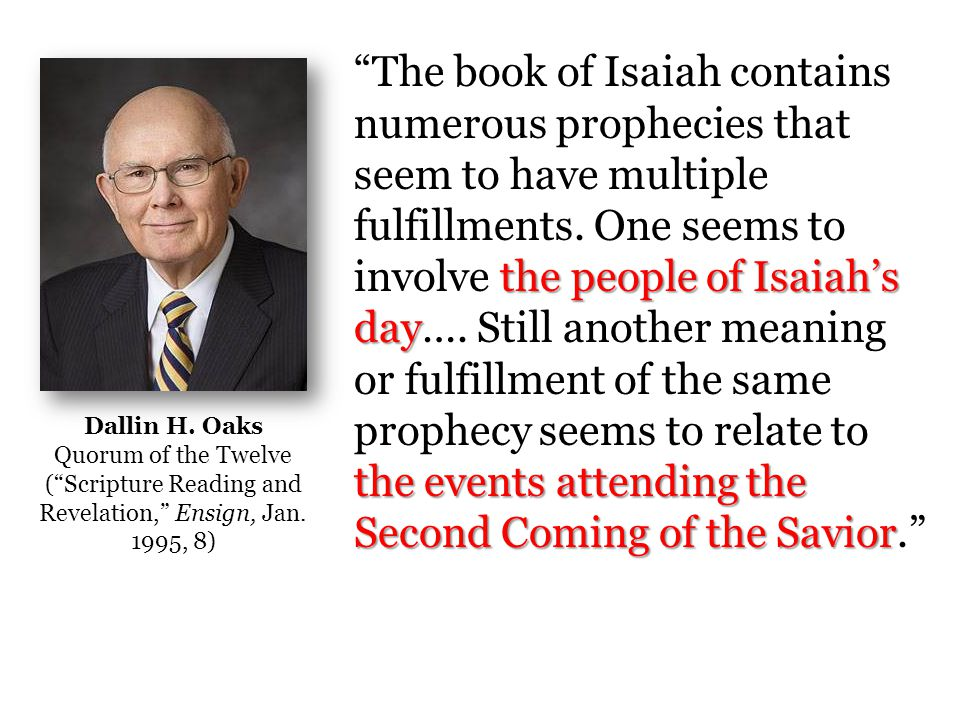 Isaiah 10 A Beautiful Analogy for the 2 nd Coming
