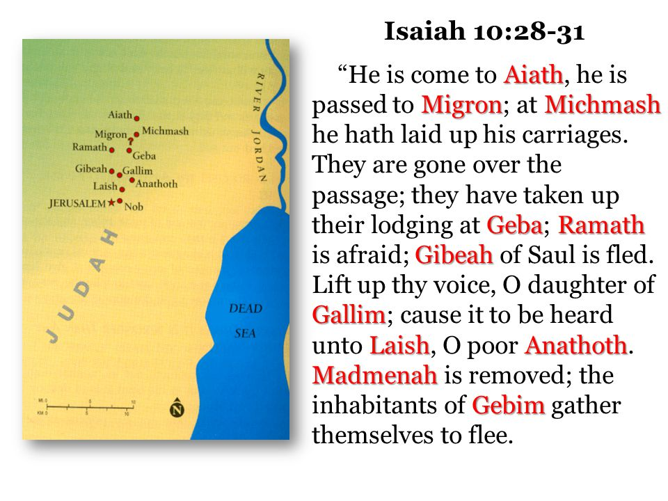 The Lord's Counsel to Judah Isaiah 10:24-25