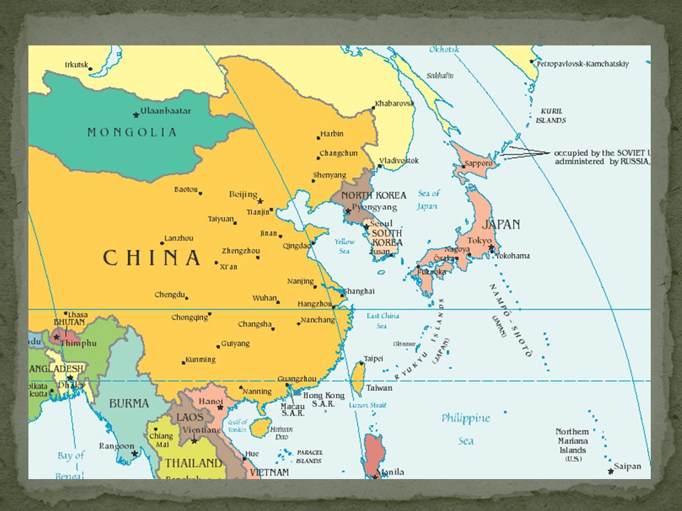 Annexed by Japan 1910 USSR invaded Manchuria, going straight into Korea (beginning August 1945) After WWII, it was decided that the 38 th Parallel (an arbitrary point) would divide North (USSR) from South (US)….