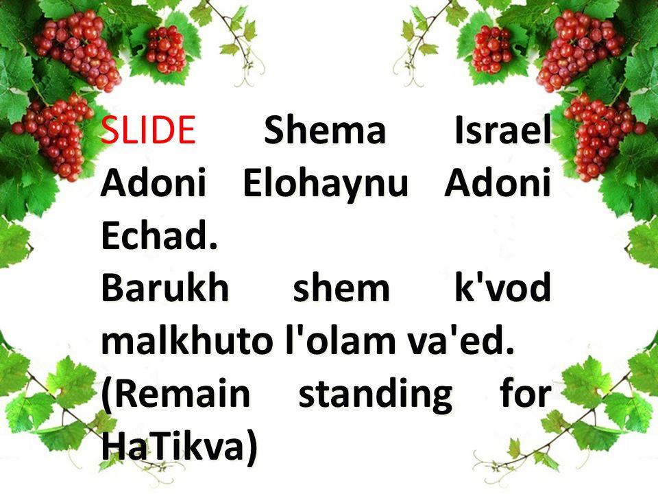 Shema Israel Adoni Elohaynu Adoni Echad. SLIDE Shema Israel Adoni Elohaynu Adoni Echad.
