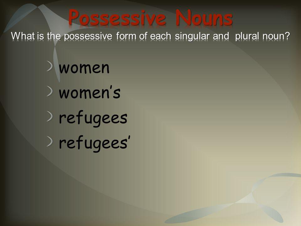 women women's refugees refugees'