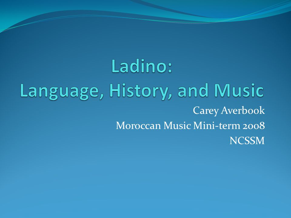 Carey Averbook Moroccan Music Mini-term 2008 NCSSM