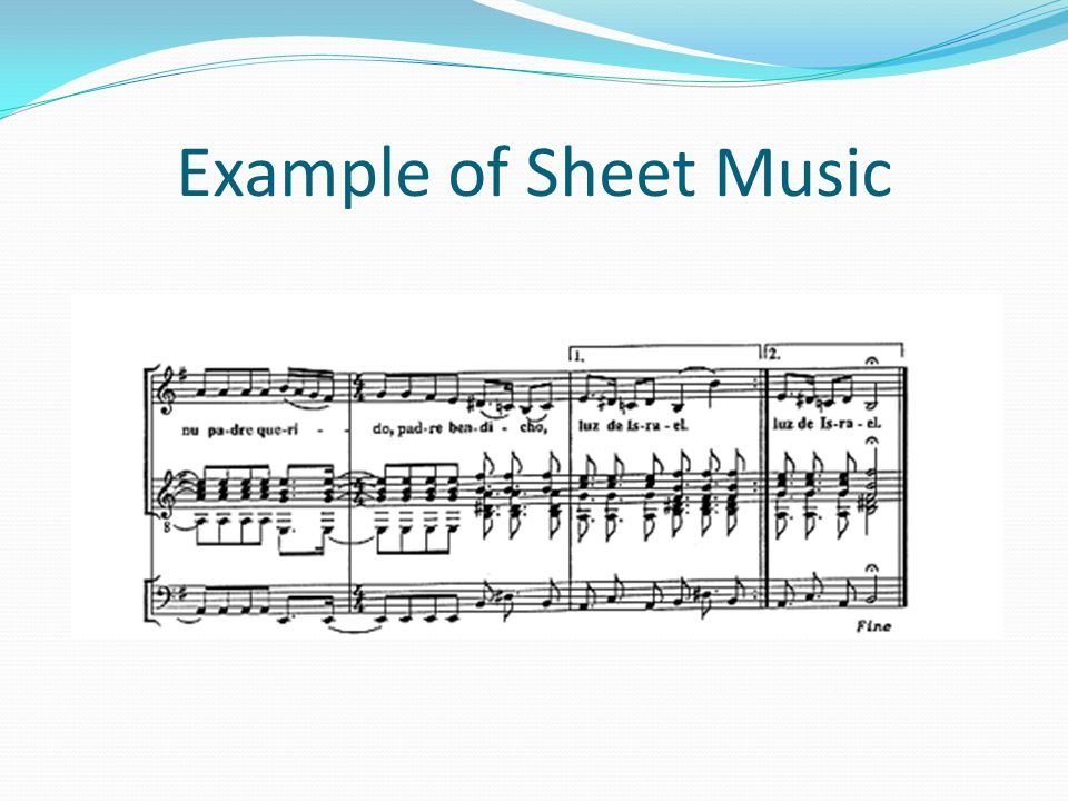 Example of Sheet Music
