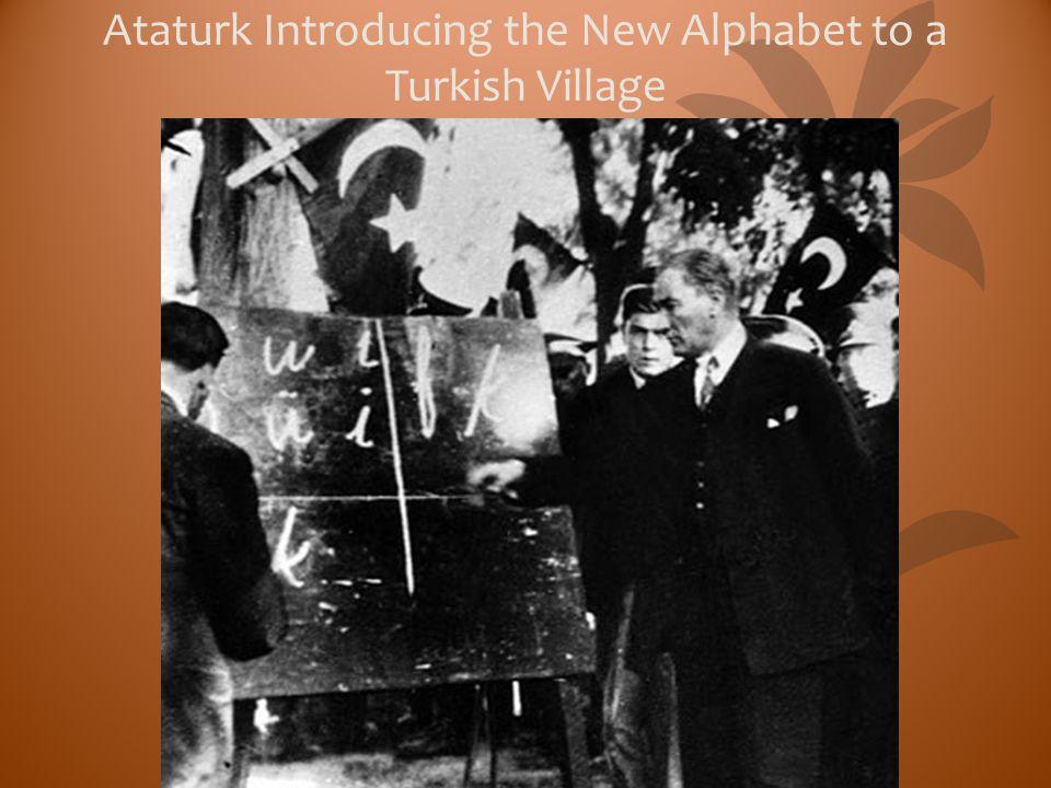 Ataturk Introducing the New Alphabet to a Turkish Village
