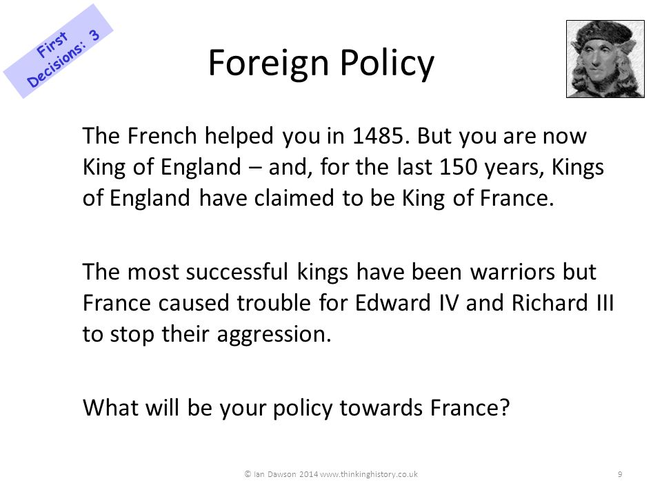 A Foreign Treaty You have the chance to make a treaty with Philip, the ruler of Burgundy.