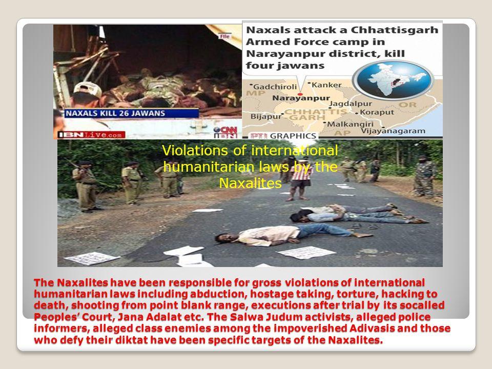 Sl No.StatesSecurity Forces CiviliansTotal 1Andhra Pradesh 72027 2Bihar12 24 3Chhattisgar h 57192249 4Jharkhand412061 5Karnataka000 6Maharashtra42024 7Madhya Pradesh 011 8Orissa448 9Uttar Pradesh 000 10West Bengal10818 Total135277412 Killings by the Naxalites in 2006