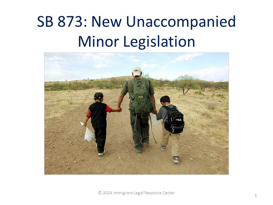 SB 873: New Unaccompanied Minor Legislation © 2014 Immigrant Legal Resource Center 3