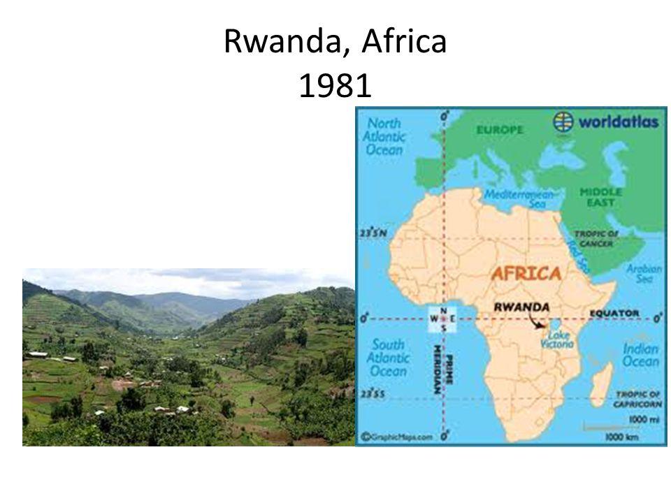 Rwanda, Africa 1981
