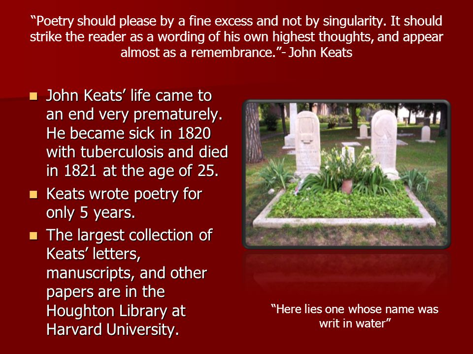 QUESTION 3 Why do you think Keats' was envious of the bird.