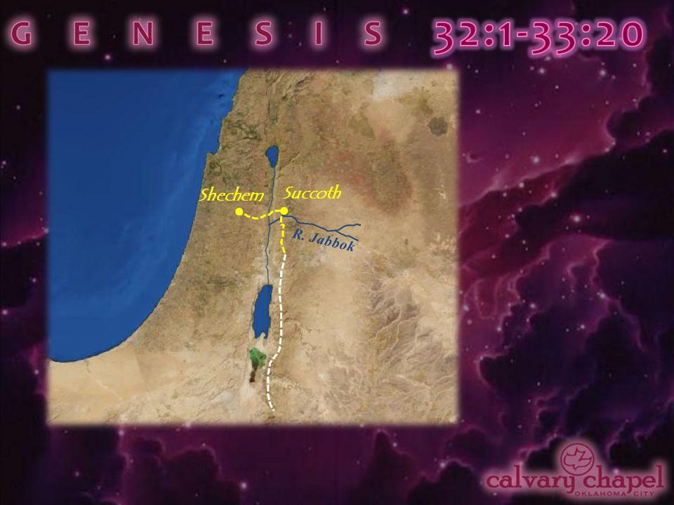 R. Jabbok Succoth Shechem