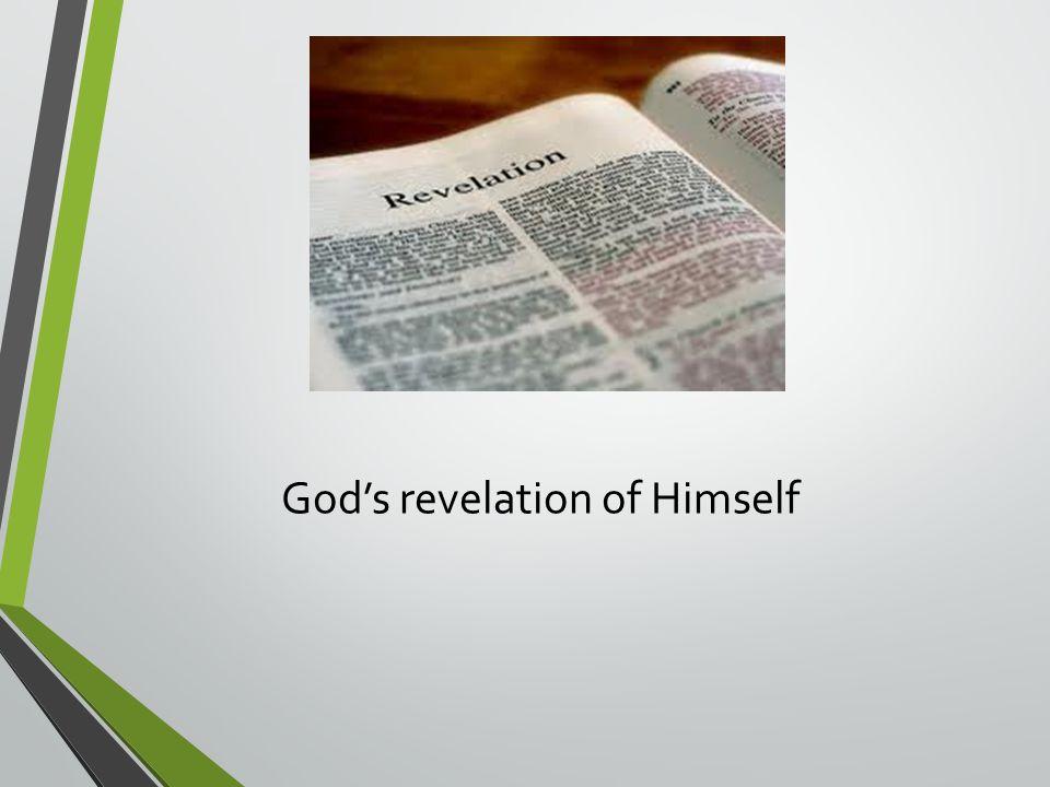 God's revelation of Himself