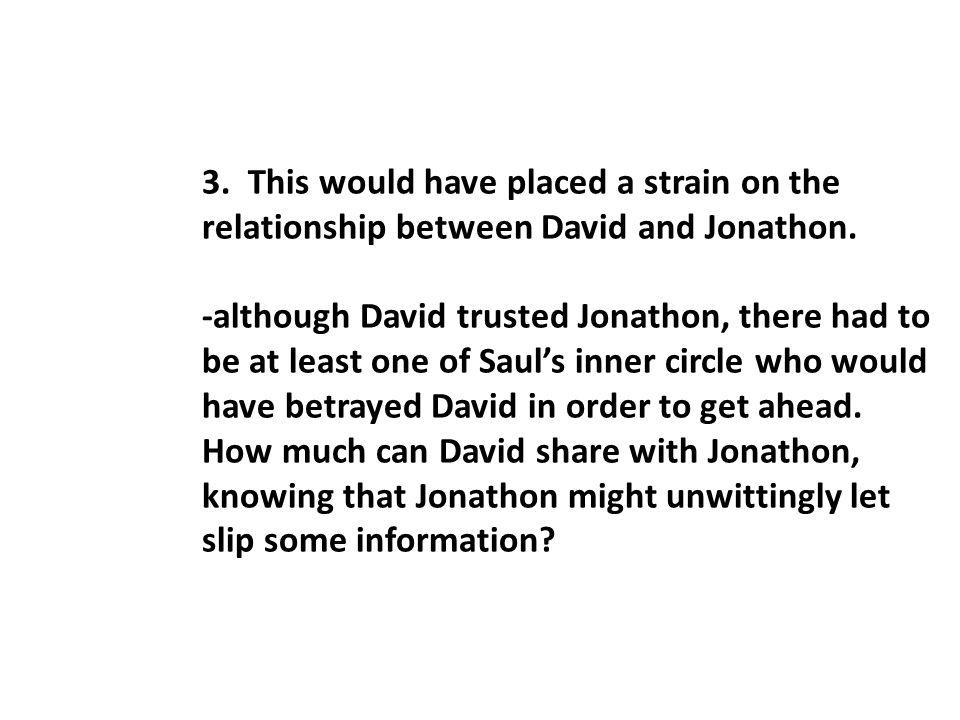 C.Jonathon's intercession (vv. 2-5) 1. In v. 2 Jonathon shows himself to be a loyal friend.