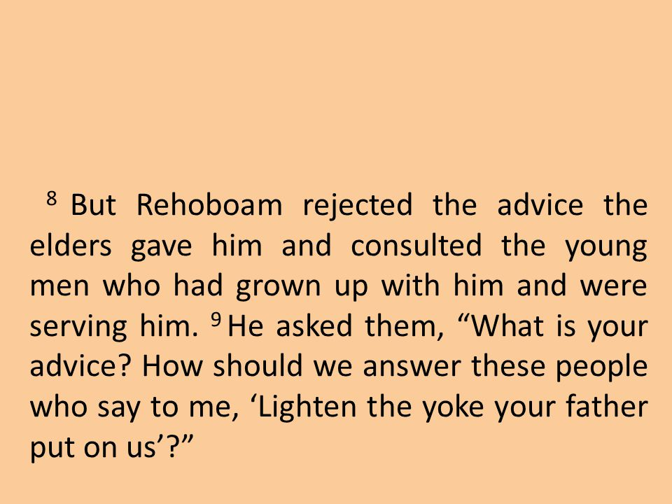 Jeroboam's actions may have been intended to keep his people from returning to King Rehoboam, but the real consequence was that he turned people away from God for generations.
