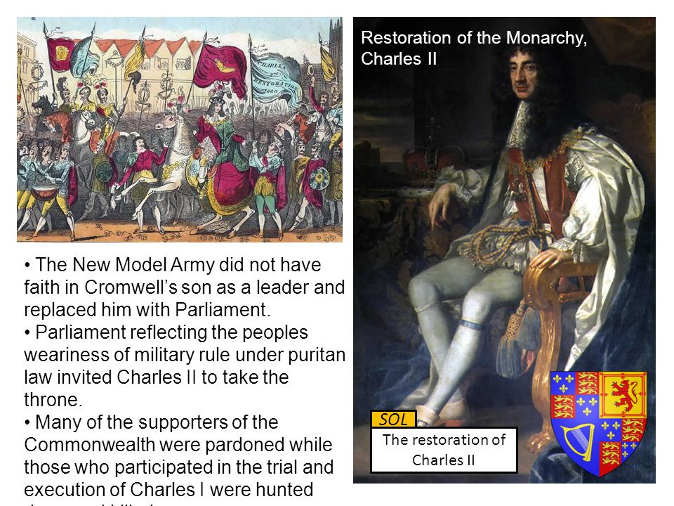 The New Model Army did not have faith in Cromwell's son as a leader and replaced him with Parliament. Parliament reflecting the peoples weariness of m