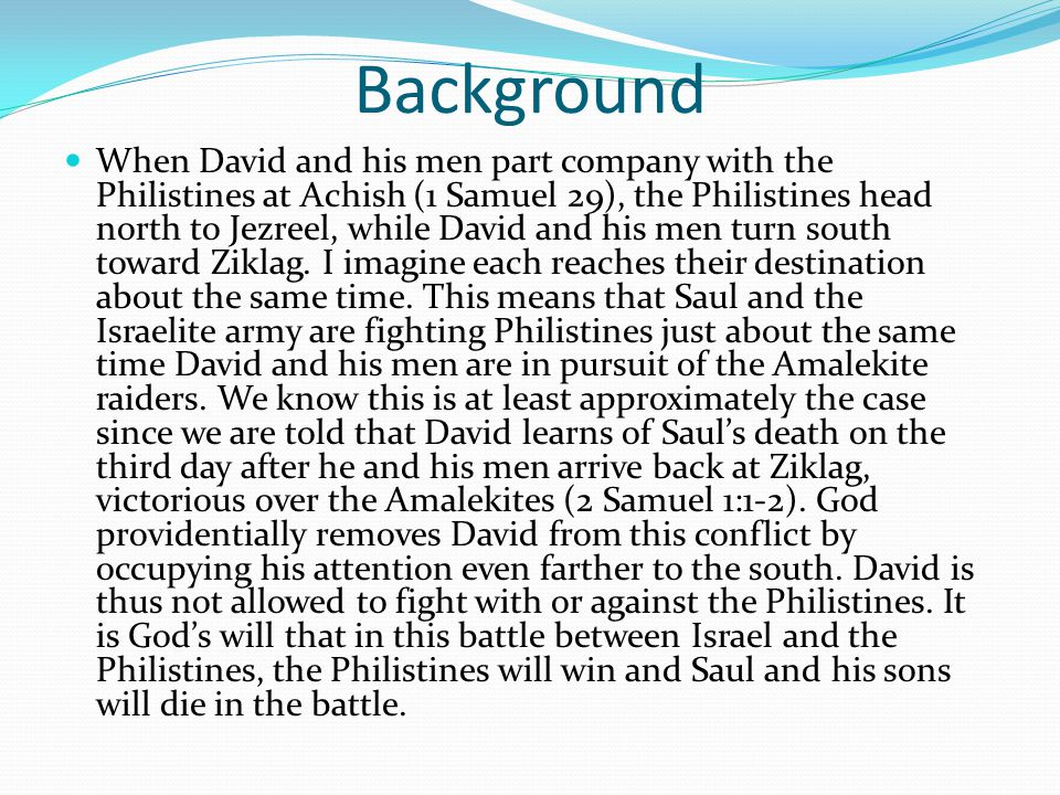 Bible Study What was the request that Saul made to the armor-bearer in verse 31:4.