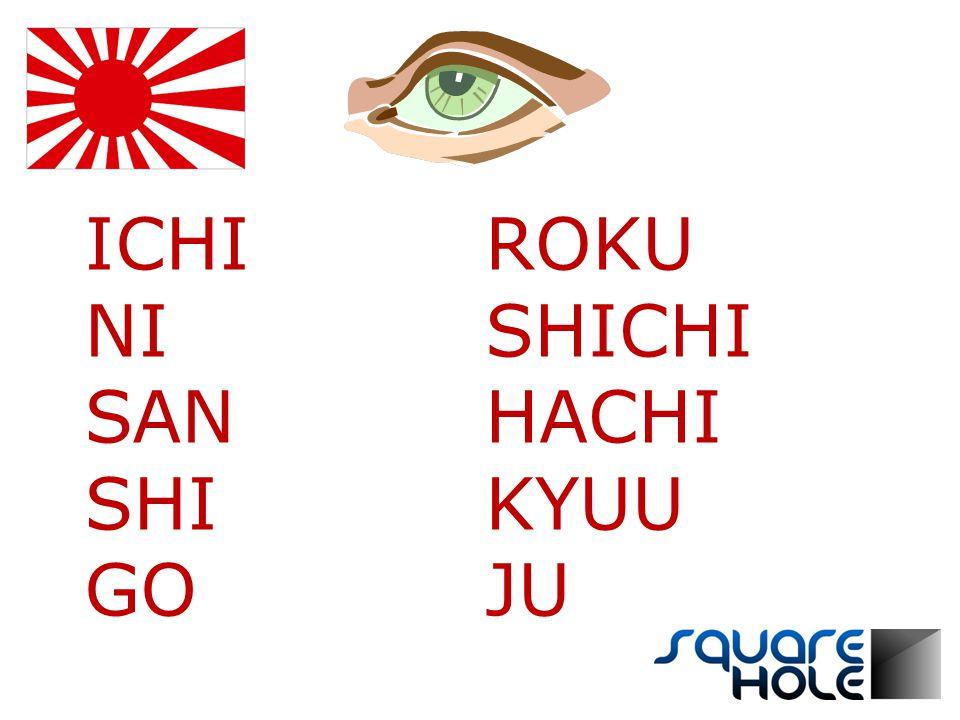 ICHI NI SAN SHI GO ROKU SHICHI HACHI KYUU JU