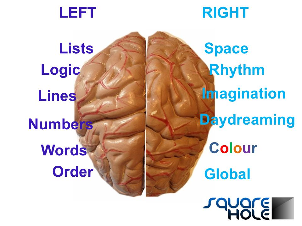 Lists Logic Lines Numbers Words Imagination Rhythm Space Daydreaming ColourColour Global Order LEFTRIGHT
