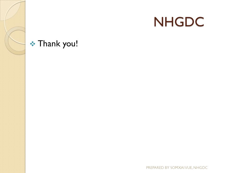 NHGDC  Thank you!