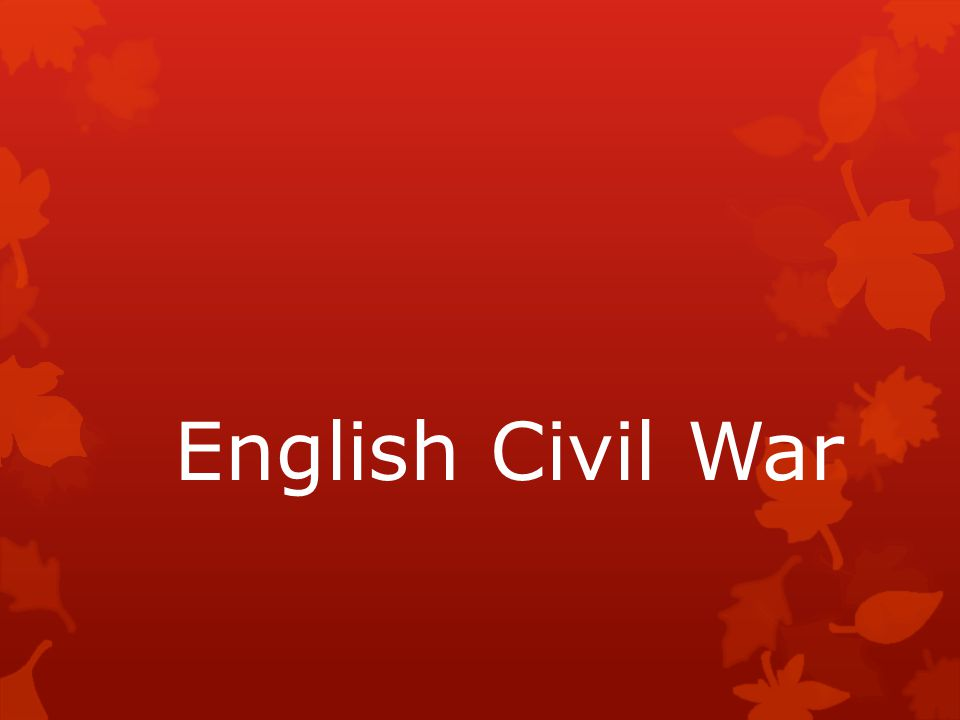 English Civil War