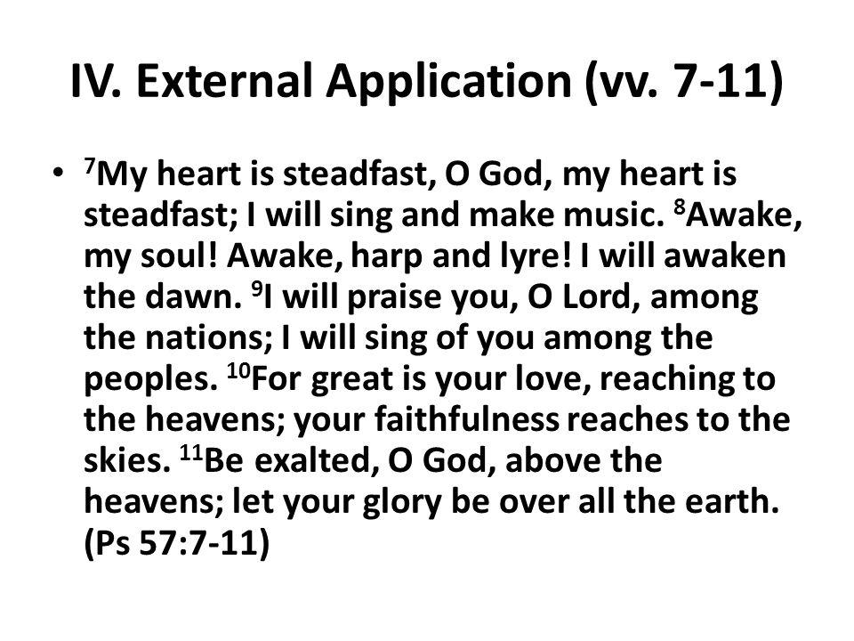 IV. External Application (vv.