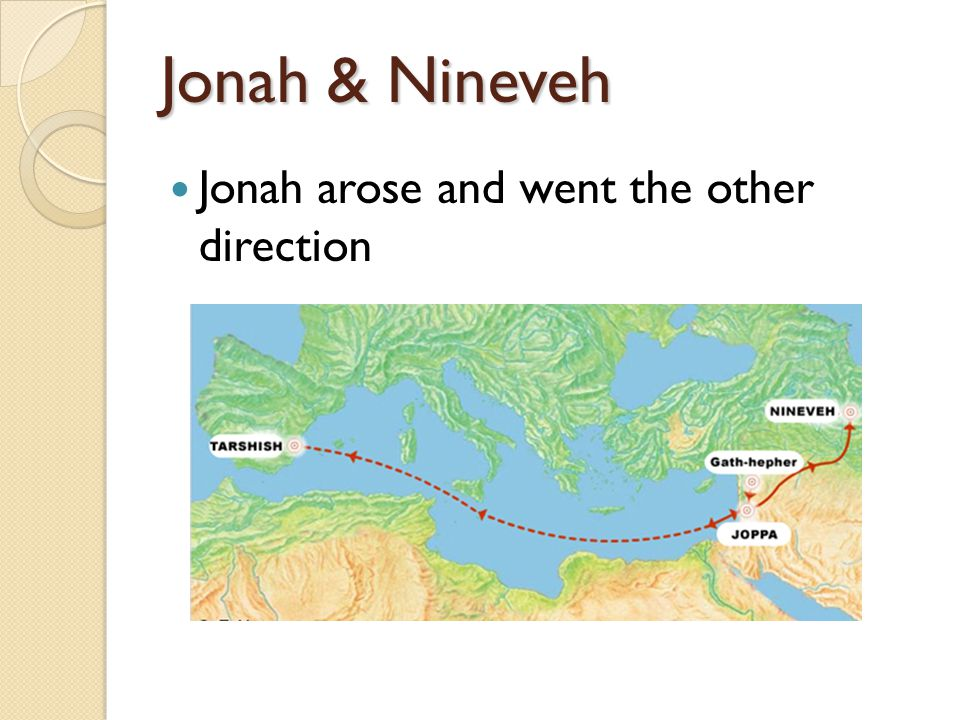 Jonah & Nineveh Jonah arose and went the other direction