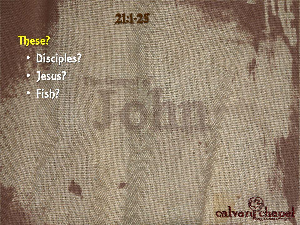 21:1-25 These Fish Fish D Disciples Jesus Jesus