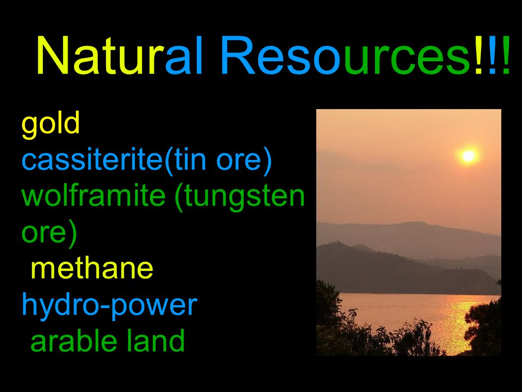 Environmental issues Deforestation overgrazing soil exhaustion and erosion Widespread poaching Natural Hazards Periodic droughts Volcanic Varunga mountains