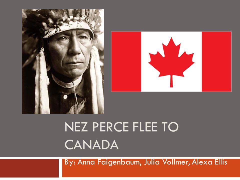 NEZ PERCE FLEE TO CANADA By: Anna Faigenbaum, Julia Vollmer, Alexa Ellis