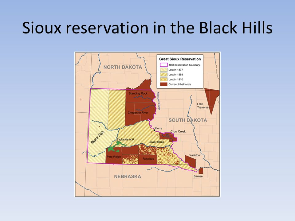 Sioux reservation in the Black Hills