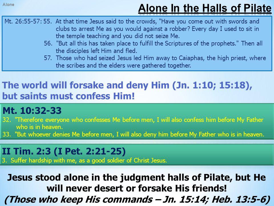 Alone Mt.27:45-46: 45.