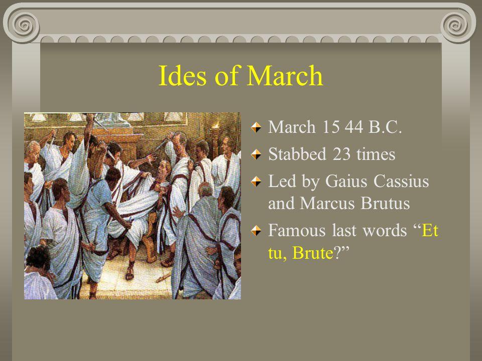 Caesar, Mark Antony, Cleopatra Pompey fled to Egypt Caesar followed him there.